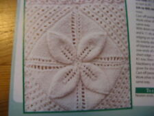 Knitting Pattern Heirloom baby blanket. RAISED Leaf Carrés Patchwork