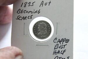 1835    AU++  CAPPED BUST HALF DIME