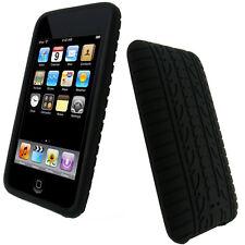 Schwarz Reifenprofil Silikon Hülle für iPod Touch 2G 3G 2te 3te Gen Tasche Case