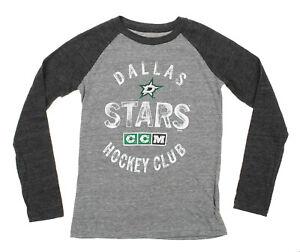 CCM NHL Youth Dallas Stars Vintage Graphics Fanatic Raglan Tee
