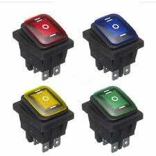 1X 3 Position On-Off-On 6Pin DC12V Waterproof Car Boat LED Rocker Power Switch