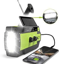 Emergency Crank Radio AM FM Solar Hand Crank Phone Charger LED Flashlight 4000ma