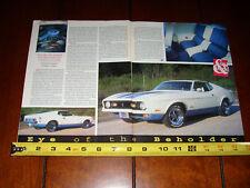 1972 MUSTANG SPRINT PACKAGE - ORIGINAL 1996 ARTICLE