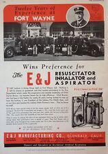VINTAGE 1944 AD(F11)~E & J MFG. CO. GLENDALE, CA. RESUSCITATOR INHALER,ASPIRATOR