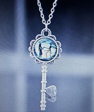 Nightmare Before Christmas Key Necklace Pendant , Jack and Sally