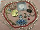 Nice Lot Spare & Repair Antique & Vintage Jewellery - Inc Churchill Coin