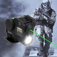 Green Dot Laser Sight Scope Combo 20mm Rail Linterna LED y pistola mano Nuevo AC