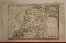 NETHERLANDS & BELGIUM 1752 JOHN GIBSON ANTIQUE ORIGINAL COPPER ENGRAVED MAP