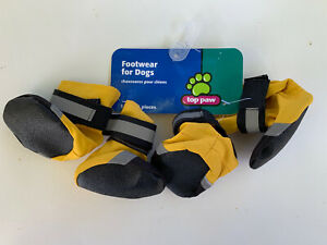 Top Paw Yellow Boots Footwear For Dogs Size XS