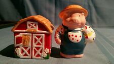 "Farmer Pig and Barn ""Russ"" Salt & Pepper Shakers"