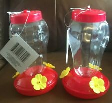 New listing Garden Collection Plastic Hanging Hummingbird Feeder 6.75 Inches Tall Set of Two