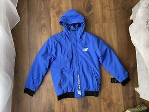 New New Balance Mens Blue Hooded Jacket Coat Size M Medium