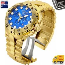 New Invicta Mens Reserve Excursion Watch Swiss Made 18k Gold Plated Chrono 16679