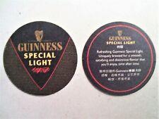 Guinness Light Special Black Round Mat Coaster x2