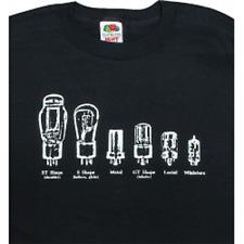 Vintage Radio Tube T-Shirt Size X-Large Black