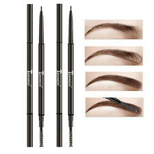 Fine Dual Ended Automatic Rotate Brow Tattoo Pen Eyebrow Pencil with Brush