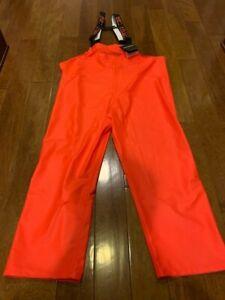 Grundens Petrus Bibs 116 XL Orange Medium Duty BRAND NEW UNUSED