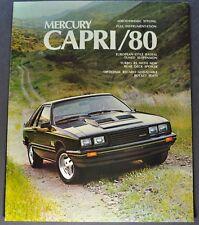 1980 Mercury Capri Catalog Sales Brochure RS, Turbo, Ghia Excellent Original 80