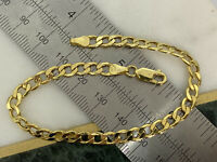"Solid Genuine 9K Yellow Gold 5mm Curb Link Bracelet 7.5"" BRAND NEW"