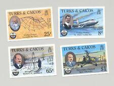 Turks & Caicos #656-659 ICAO, Aviation, DaVinci 4v Imperf Proofs