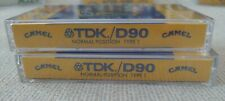 2 TDK D90 Normal Position Type I Camel Smooth Character (Sealed) Cassette Tapes