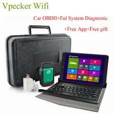 Vpecker OBD2 Scanner Wifi Full System ABS SRS EPB Diagnostic Tool+8 inch tablet