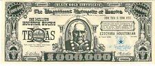 Black Gold Certificate $1,000,000 Bucks Houston Texas Arabia Shrine 1956 Doc002