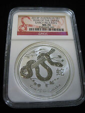 2013 P NGC MS70 AUSTRALIA YEAR OF THE SNAKE  EARLY RELEASES