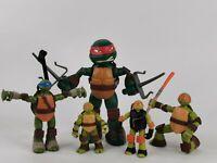 Teenage Mutant Ninja Turtles Bundle Job Lot Figures Viacom 2014  rare spinning