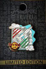 Hard Rock Cafe Budapest Airport Rock Shop Hungary Flag Airplane Pin 2017