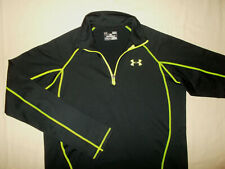 UNDER ARMOUR COLD GEAR 1/4 ZIP LONG SLEEVE BLACK LOOSE FIT SHIRT MENS SMALL EXC.