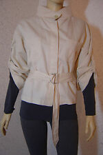 Mexx Damen Blazer Jacket Jacke leicht ungefüttert Leinen/Cotton creme Gr.36 Neuw