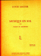 Musique en Sol reduction violon et piano Louis Saguer 1967