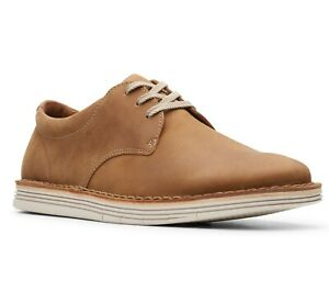 Clarks Men's 26149642 Forge Vibe Tan Leather Lightweight Casual Lace-Up Shoes