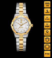 TAG Heuer Stainless Steel Case Women's Round Wristwatches