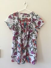 Womens Esprit Short Sleeve Blouse Shirt top Multicoloured Size 8 UK 10 US 6