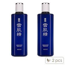 2 PCS KOSE Medicated Sekkisei Lotion 200ml x2= 400ml Toners Whitening#2442_2