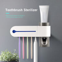 2 In 1 UV Toothbrush Sterilizer Toothbrush Holder Automatic Toothpaste M4W