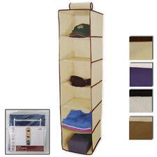 6 Shelf Hanging Wardrobe Sweater Storage Organizer Cloth Bag Blanket Box Closet