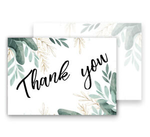 Thank You Cards Postcards Notes & Envelopes A6  Pack of Thankyou Notes cards