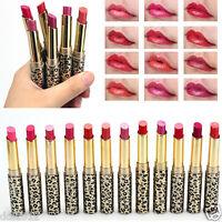 12Pcs/set Lot Leopard Long Lasting Lipstick Lip Gloss Cosmetic Makeup Lip Rouge