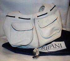 RIPANI White Italian Leather Hobo borsetta * MADE IN ITALY * NUOVO