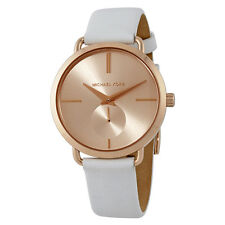 Michael Kors Portia Rose Gold-tone Dial Ladies Leather Watch MK2660