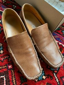 ECCO Men's Lounge Moc slip on - Brown Leather in Mineral Size 9 / 42