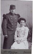 CDV couple Ms Mamboury succ Fleurier Suisse homme 60 ou 63 è R.I et femme 1900