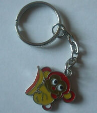 1 x Monkey Keyring Enamel Yellow / Red 80mm Keychain Crafts Collectables