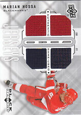 2009/10 UD Black Diamond Quad GU Jersey card Marian Hossa 4 jersey pieces
