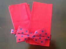 BOW TIE, POCKET SQUARE, AND HANDKERCHIEF SET **BRAND NEW