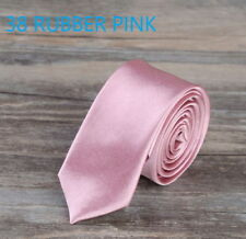 Necktie Casual Slim Plain Men's Solid Skinny tie for Party  formal and Wedding