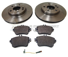 MERCEDES A160 A180 12-17 FRONT 2 BRAKE DISCS AND PADS & SENSOR (CHECK DISC SIZE)